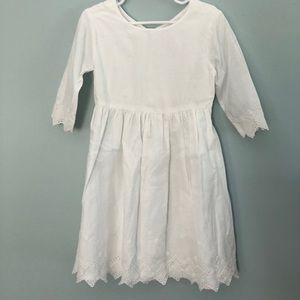 White Eyelet Trimmed Dress. Worn once!